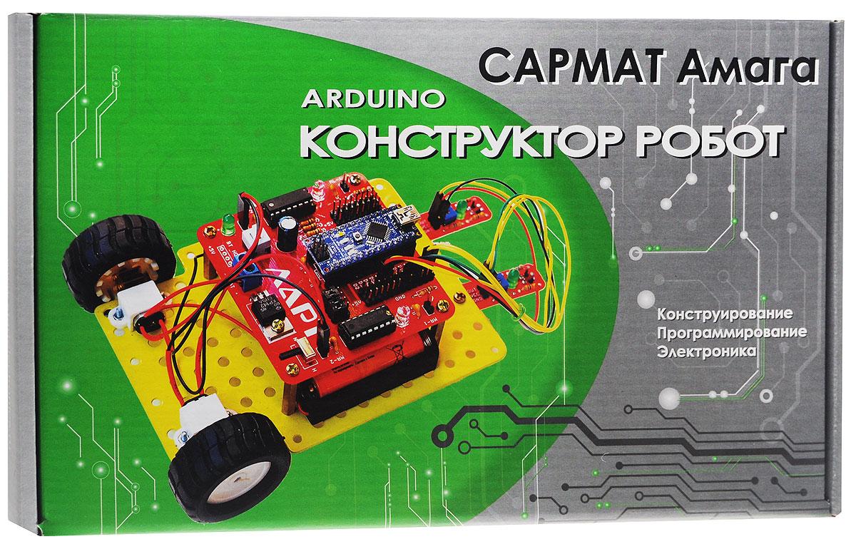 Ларт Конструктор-робот Сармат Амага14115Конструктор Ларт Сармат Амага представляет собой набор из элементов для конструирования электронного робота. Набор состоит из блока управления LART R-5 с контроллером Arduino Nano, датчиков, электромоторов, деталей металлического каркаса и крепежных элементов. Детали шасси изготовлены из листового металла толщиной 0,8 мм и способны нести достаточно высокую механическую нагрузку. Размер штатных крепежных отверстий составляет 3,5 мм. На пластине размещены дополнительные отверстия диаметром 4,5 мм и шагом 10 мм. Шасси конструктора выполнены из листового металлического листа. На листе размещены отверстия для крепления элементов робота. Размер их 3,5 мм. Так же на листе размещены отверстия 4,5 мм и шагом 10 мм. Это стандартные размеры для всех металлических конструкторов. Контроллер Arduino прост в освоении программирования. Не требует платных лицензий. Подросток без помощи профессиональных инженеров и программистов сможет самостоятельно собирать и программировать...