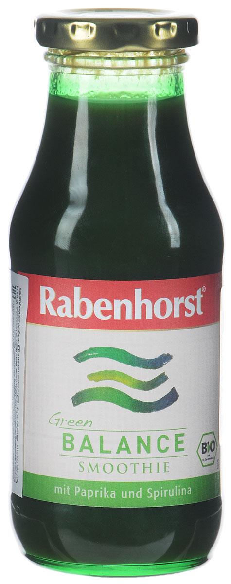 Rabenhorst Баланс смузи с проростками ячменя и спирулиной, БИО, 240 мл2997Два суперфуда, сладкий зелёный перец и киви – присоединяйтесь к зелёным. Тёмное стекло - защита от света. Баланс - одна из пяти порций овощей на день. Уважаемые клиенты! Обращаем ваше внимание, что полный перечень состава продукта представлен на дополнительном изображении.