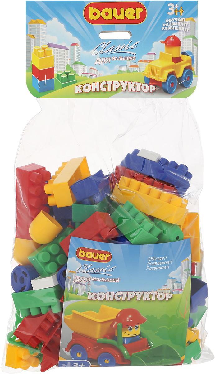 Bauer Конструктор Classic 060060Конструктор Bauer Classic содержит 101 яркую деталь разной формы, цвета и размера для сборки различных по сложности 2-х и 3-х мерных объектов. Конструктор прекрасно подходит для детского творчества и семейного отдыха, способствуют развитию объёмного мышления ребенка, фантазии, координации движения глаз, мелкой моторики и памяти. Все детали сделаны из высококачественного пластика с использованием пищевых красителей. Ребенок сможет часами играть с этим конструктором, придумывая разные истории и комбинируя детали. Конструктор Bauer Classic адаптирован к программам дошкольного образования, и может быть использован как индивидуально, так и в коллективе.