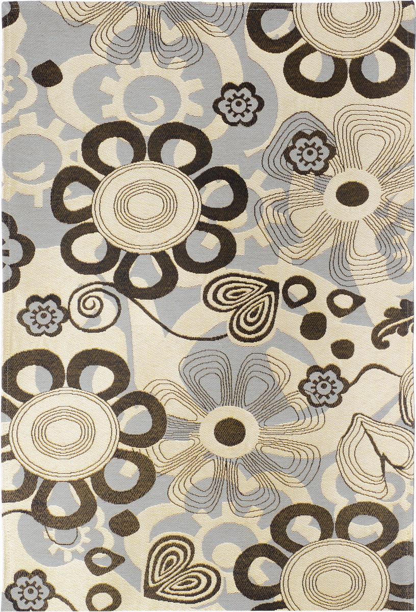 Коврик прикроватный Oriental Weavers Санлайт, цвет: черно-бежевый, 75 х 120 см. 74 K20706Яркий гобеленовый ковер Oriental Weavers с оригинальным дизайном станет отличным дополнением классического и современного интерьера.