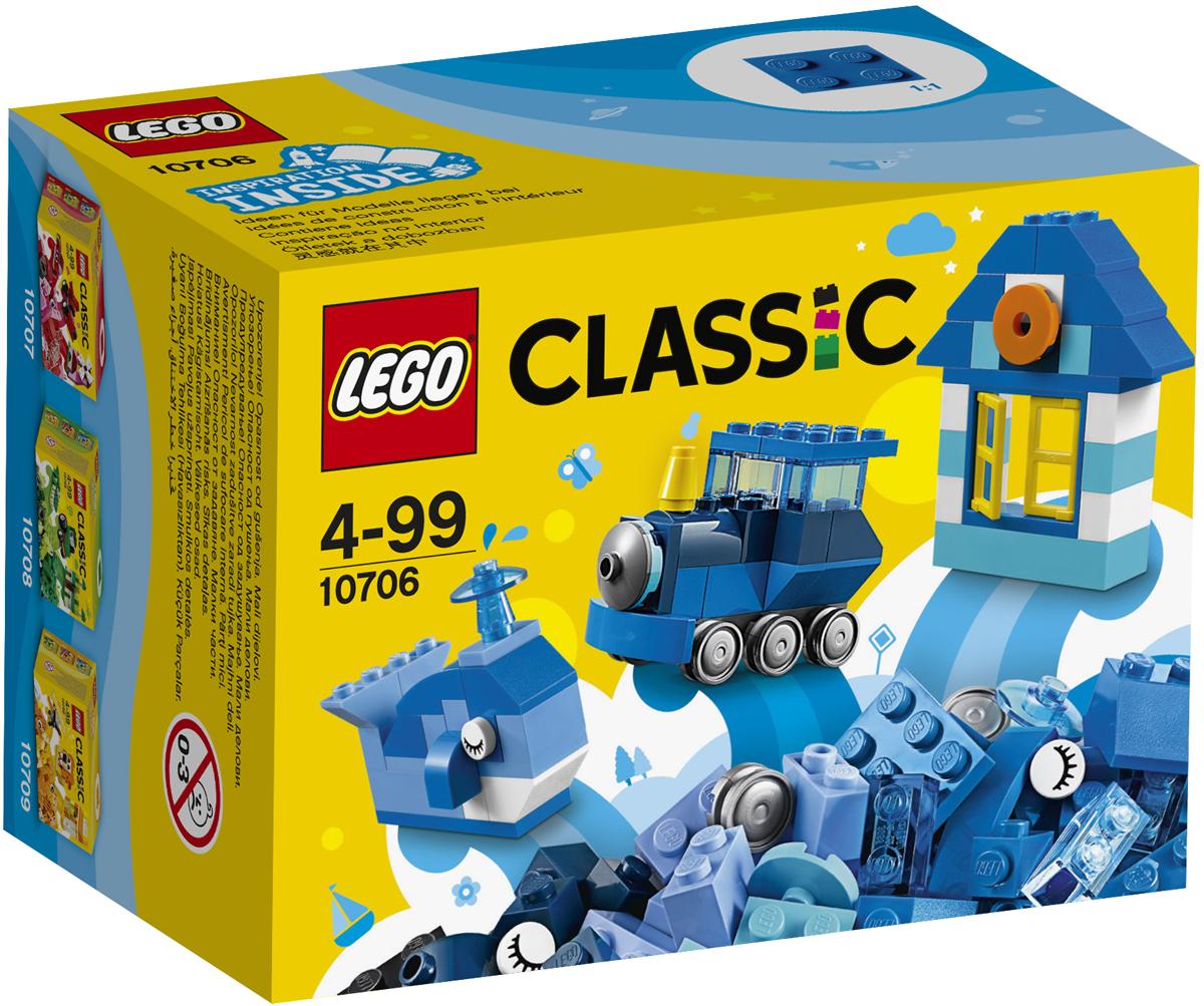 LEGO Classic Конструктор Синий набор для творчества 1070610706Собирай новые модели и развивай воображение с набором LEGO Classic, который содержит элементы ярко-синего и других цветов и станет настоящим источником вдохновения. Создавай весёлых существ, уютные домики или зачарованные замки, поезда, катера, самолёты — всё, что только можно себе представить... Возможности набора безграничны! Идеи для вдохновения можно найти в прилагаемом буклете или в Интернете.