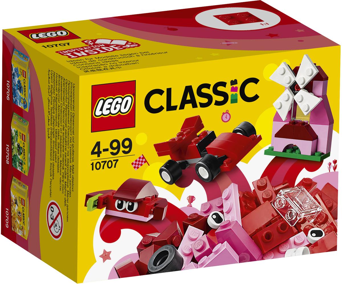 LEGO Classic Конструктор Красный набор для творчества 1070710707Собирай новые модели и развивай воображение с набором LEGO Classic, который содержит элементы ярко-красного и других цветов и станет настоящим источником вдохновения. Создавай весёлых существ, уютные домики или зачарованные замки, поезда, катера, самолёты — всё, что только можно себе представить... Возможности набора безграничны! Идеи для вдохновения можно найти в прилагаемом буклете или в Интернете.