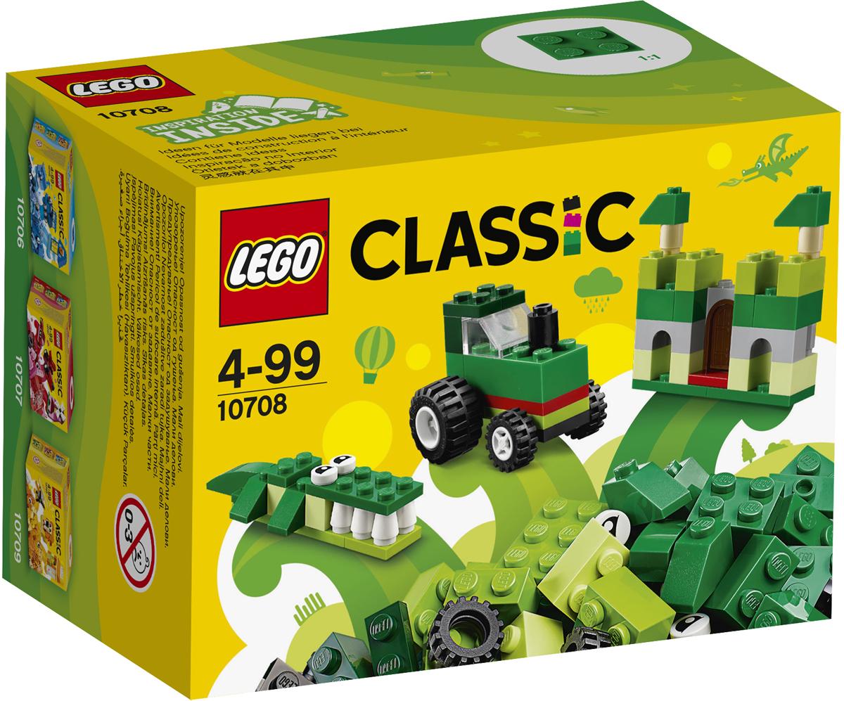 LEGO Classic Конструктор Зеленый набор для творчества 1070810708Собирай новые модели и развивай воображение с набором LEGO Classic, который содержит элементы ярко-зеленого и других цветов и станет настоящим источником вдохновения. Создавай весёлых существ, уютные домики или зачарованные замки, поезда, катера, самолёты — всё, что только можно себе представить... Возможности набора безграничны! Идеи для вдохновения можно найти в прилагаемом буклете или в Интернете.