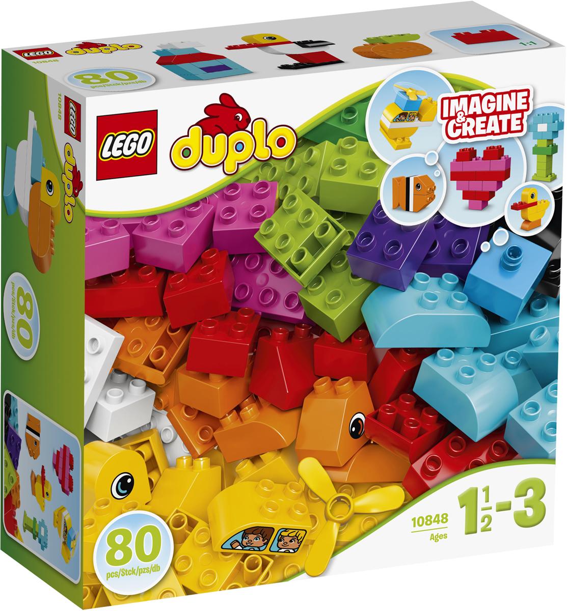 LEGO DUPLO Конструктор Мои первые кубики 1084810848Пробудите воображение малыша с помощью потрясающего ассортимента кубиков LEGO DUPLO, который может стать источником бесконечного веселья! Используя эти яркие, красочные кубики, некоторые из которых украшены с двух сторон, пропеллер и карточки по сборке как источник вдохновения дети могут построить практически все, что только можно представить: самолёт, лодку и маленький домик! Крупные кубики LEGO DUPLO специально сконструированы так, чтобы они были безопасны и удобны для маленьких ручек.
