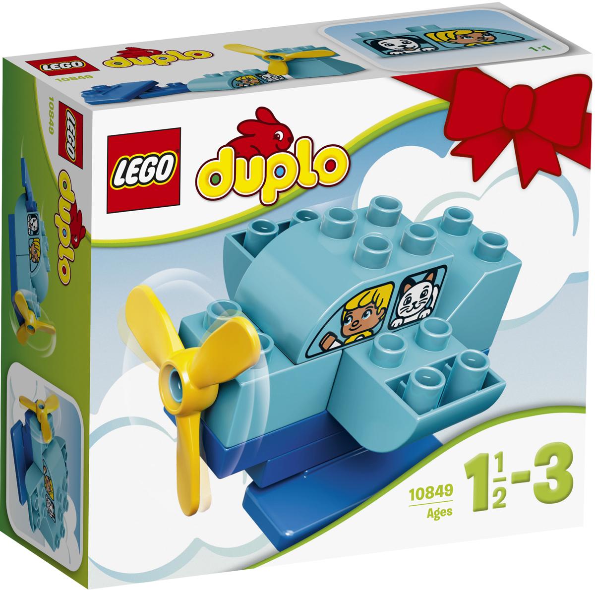 LEGO DUPLO Конструктор Мой первый самолет 1084910849Мой первый самолет LEGO DUPLO захватит воображение маленьких пилотов на целые часы. Этот легкий в сборке самолет отлично подходит для развития моторики, а кубик в виде окна c персонажами поможет детям придумать свои истории и ролевые игры. Как только самолет приземлится, его можно перестроить в лодку или вертолет! Крупные кубики LEGO DUPLO специально сконструированы так, чтобы они были безопасны и удобны для маленьких ручек. Набор включает в себя 10 разноцветных пластиковых элементов. Конструктор станет замечательным сюрпризом вашему ребенку, который будет способствовать развитию мелкой моторики рук, внимательности, усидчивости и мышления. Играя с конструктором, ребенок научится собирать детали по образцу, проводить время с пользой и удовольствием.