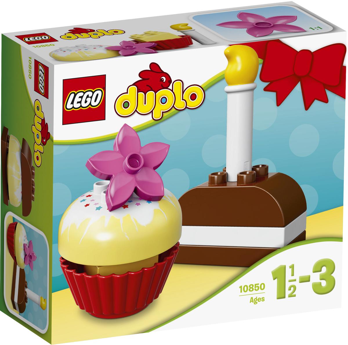 LEGO DUPLO Конструктор Мои первые пирожные 1085010850Посмотрите, сколько пирожных ваш ребенок может собрать для дня рождения или просто для угощения! Малышам понравится находить разные комбинации, при этом они будут развивать свои творческие навыки и мелкую моторику. Этот набор прекрасно подходит для игры в кафе, составления рецептов и обучения конструированию. Крупные кубики LEGO DUPLO специально сконструированы так, чтобы они были безопасны и удобны для маленьких ручек. Набор включает в себя 8 разноцветных пластиковых элементов. Конструктор станет замечательным сюрпризом вашему ребенку, который будет способствовать развитию мелкой моторики рук, внимательности, усидчивости и мышления. Играя с конструктором, ребенок научится собирать детали по образцу, проводить время с пользой и удовольствием.