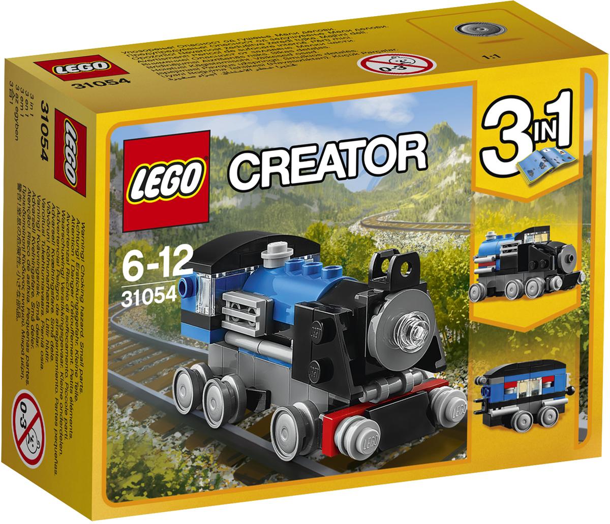 LEGO Creator Конструктор Голубой экспресс 3105431054Прокатись на этом чудесном классическом локомотиве, выкрашенном в синий, чёрный и серый цвета, с шестью колёсами, двумя буферами, передними фарами. А если тебе захочется получить новую модель, замени передний, средний и задний модули и трансформируй локомотив в Голубой экспресс или преврати его в Пассажирский вагон или Скорый поезд!