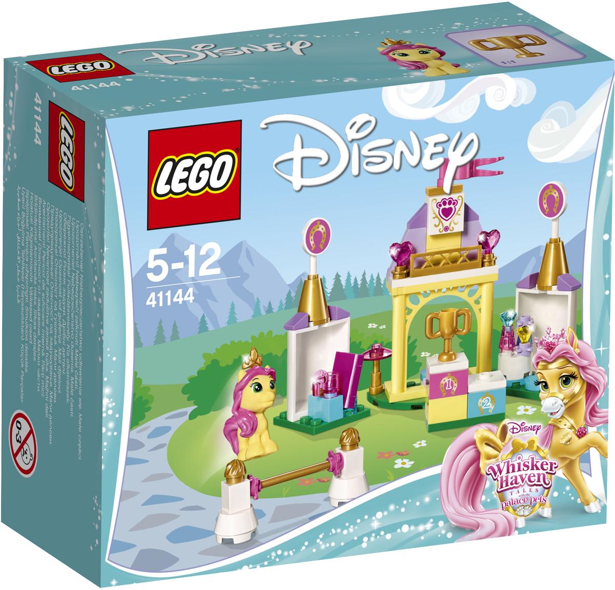 LEGO Disney Princesses Конструктор Королевская конюшня Невелички 4114441144Заходи в гости в Королевскую конюшню Невелички, пони принцессы Disney Белль. Помоги Невеличке выиграть соревнование по прыжкам и вручи ей приз на пьедестале почёта. Пришло время отдохнуть с чашкой чая и хорошей книгой. Но не слишком долго. Невеличку пригласили на вечеринку по случаю её победы. Чтобы привести в порядок её гриву, возьми бутылочку с шампунем.