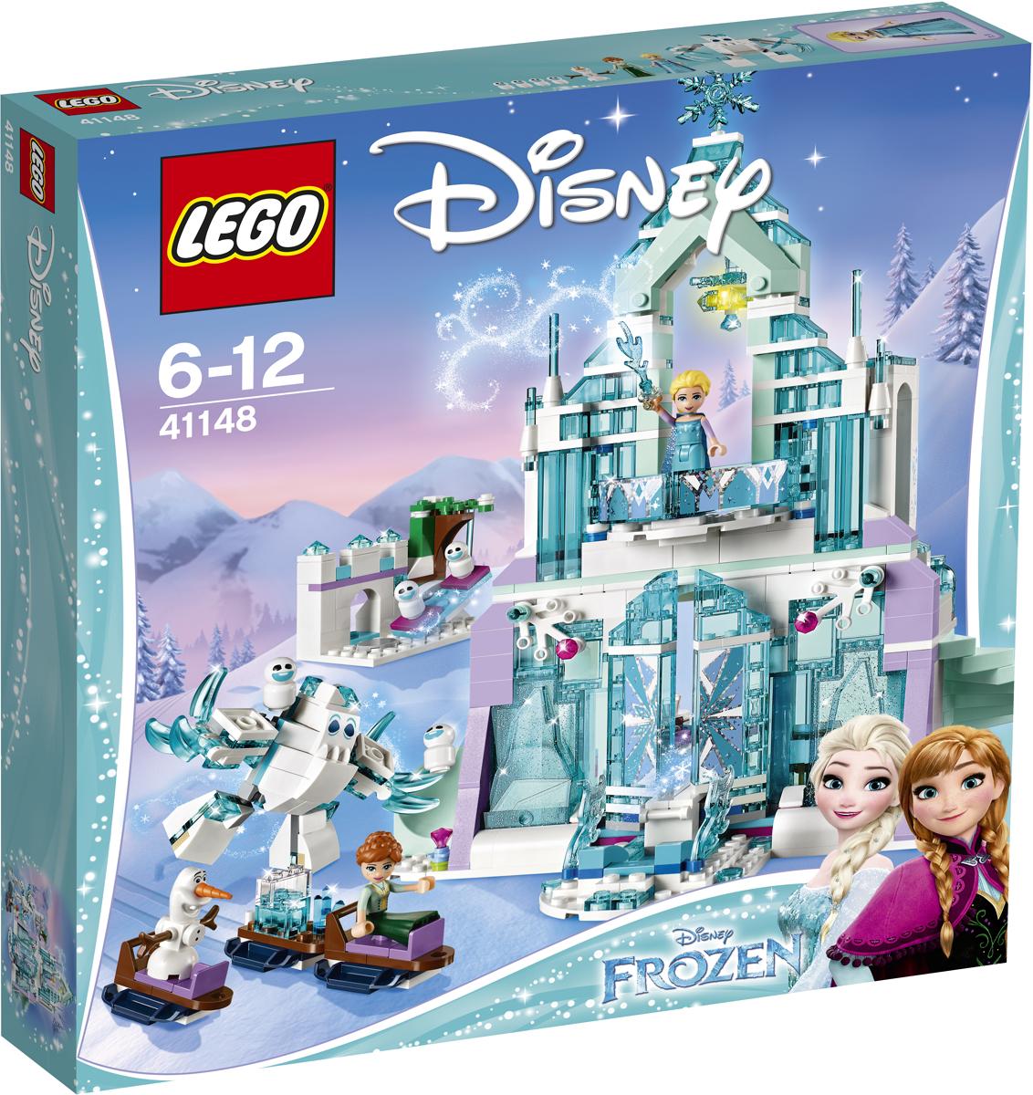 LEGO Disney Princesses Конструктор Волшебный ледяной замок Эльзы 4114841148Отправляйся на санях с Анной к ледяному замку, чтобы помочь Эльзе магическим образом открыть главные ворота и опустить мост. Выпей чаю с тортом в большом зале, а потом выдвини волшебную лестницу, чтобы подняться в спальню. Скатись по горке на игровую площадку, где Олаф, Маршмеллоу и Снежки ждут Эльзу, чтобы сыграть в весёлую игру.