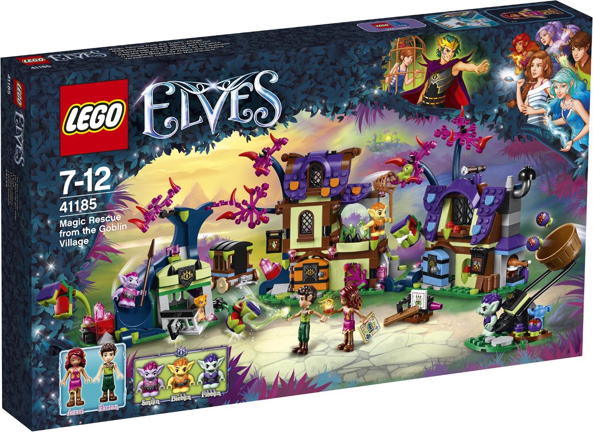 LEGO Elves Конструктор Побег из деревни гоблинов 4118541185Вместе с Азари по прозвищу Танец огня и Фарраном по прозвищу Тень листвы, которые ищут Софи Джонс, спаси попавших в плен животных! Побывай в мастерских, где гранят кристаллы и плетут клетки, и посмотри, как бестолковый Фибблин пытается поймать хамелеона Хайди. Помоги эльфам отразить ядовитые семена, которыми Байблин стреляет из своей катапульты, и убежать от охранника Смайлина и плотоядных растений. А потом освободи пантеру Пантару и продолжай поиски Софи!