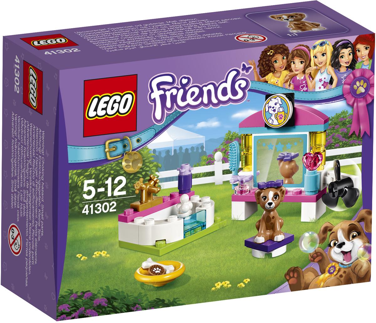 LEGO Friends Конструктор Выставка щенков Салон красоты 4130241302Заставь Лару прыгнуть в ванну и хорошенько вымой её шампунем для собак. Потом усади её на специальный табурет перед зеркалом, причёсывай и суши шёрстку феном. Сначала выполните все процедуры и только потом дай собаке косточку на удачу!