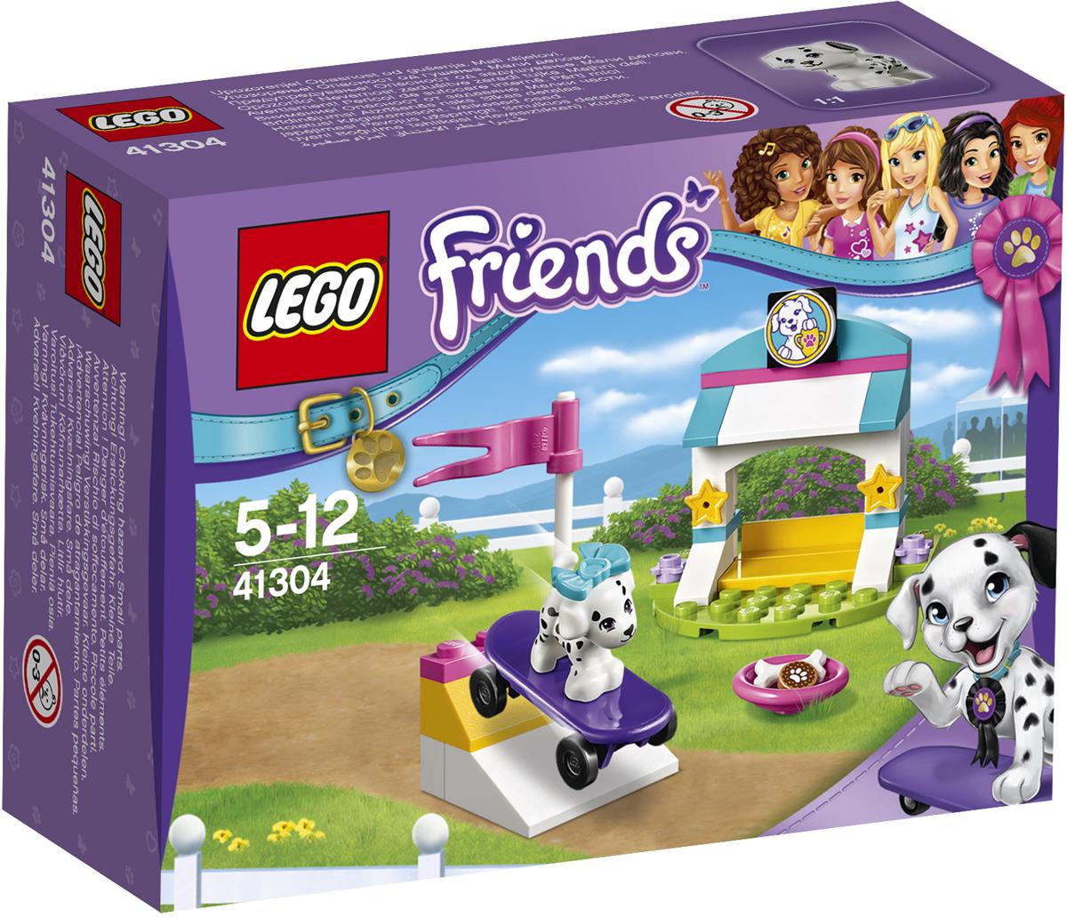 LEGO Friends Конструктор Выставка щенков Скейт-парк 4130441304Игривый щенок Куки приготовил особый трюк! Помоги ему съехать на своём скейтборде вниз по пандусу и подготовить выступление для участия в большой выставке щенков. Посмотри, сколько трюков он может продемонстрировать на своём скейтборде! Этот щенок и правда заработал своё печенье! Трудолюбивый песик заслуживает того, чтобы жить в роскошном собачьем домике, поэтому отправь его домой и уложи отдыхать, когда он закончит тренировку.