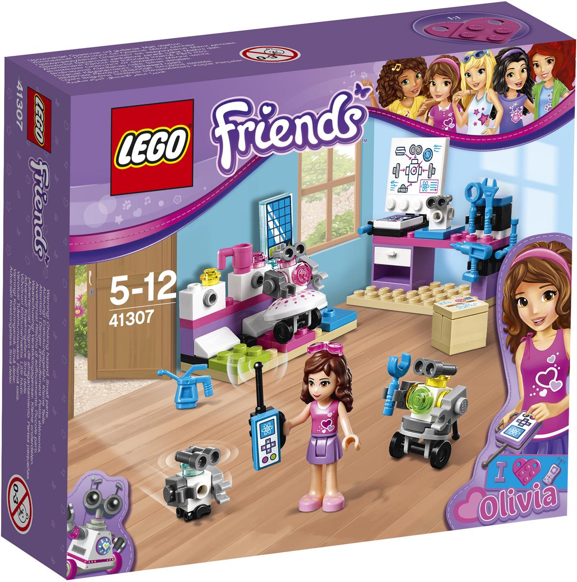 LEGO Friends Конструктор Творческая лаборатория Оливии 4130741307Помоги Оливии, которая работает в лаборатории, изобрести новых роботов. Внимательно изучи план на чертежной доске, а потом бери все необходимые инструменты и начинай сборку. Теперь у её надёжного друга — робота Зобо — есть Зузу и малыш Зобито, которые составят ему компанию! Размести роботов на их зарядных станциях и не забудь накормить Зобито из бутылочки!