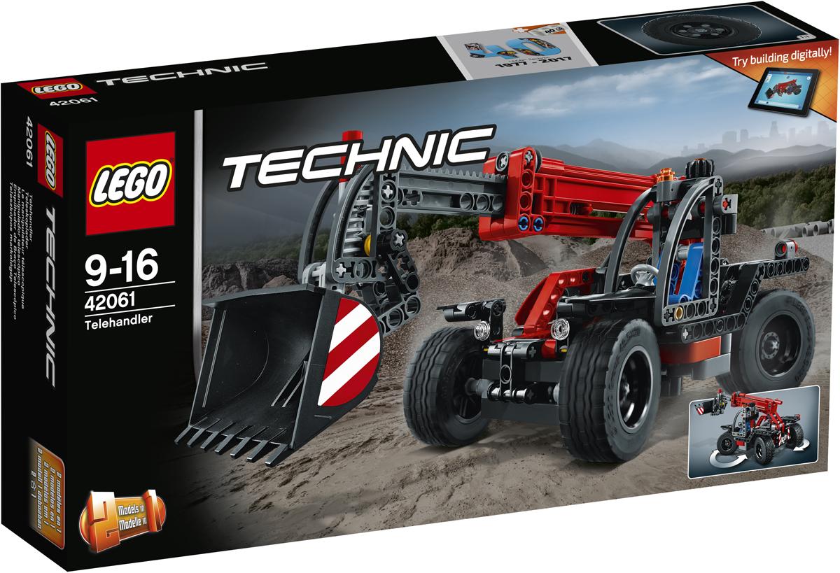 LEGO Technic Конструктор Телескопический погрузчик 4206142061Испытай сочетание компактного дизайна и удивительной мощности, объединённые в этой суперкрутой модели настоящего телескопического погрузчика с детально разработанной кабиной, надёжными шинами и рулевым управлением с приводом на четыре колеса для исключительной манёвренности. Вытяни универсальную стрелу и подними ковш высоко в воздух. Эта прочная модель LEGO 2-в-1 выполнена в классной красно-серо-чёрной цветовой гамме и перестраивается в мощный экскаватор! Интерактивное интернет-приложение с цифровыми 3D-инструкциями по сборке LEGO для обеих моделей доступно онлайн!