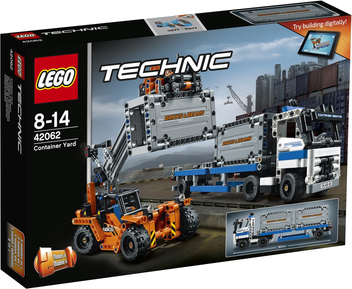 LEGO Technic Конструктор Контейнерный терминал 4206242062Ты можешь перевозить множество грузов, используя контейнерный терминал LEGO Technic 2 в 1. Он имеет в своём распоряжении грузовик со съёмным трейлером и двумя большими контейнерами, а также контейнерный погрузчик. Отведи погрузчик на нужное место и используй его выдвижную стрелу и захват, чтобы брать и переставлять тяжёлые контейнеры на поджидающий грузовик. А потом запрыгивай в кабину и вези контейнеры к месту назначения! Перестрой этот набор, чтобы создать портальный погрузчик контейнеров с грузовиком и контейнером! Интерактивное интернет-приложение с цифровыми 3D-инструкциями по сборке LEGO для обеих моделей доступно онлайн!