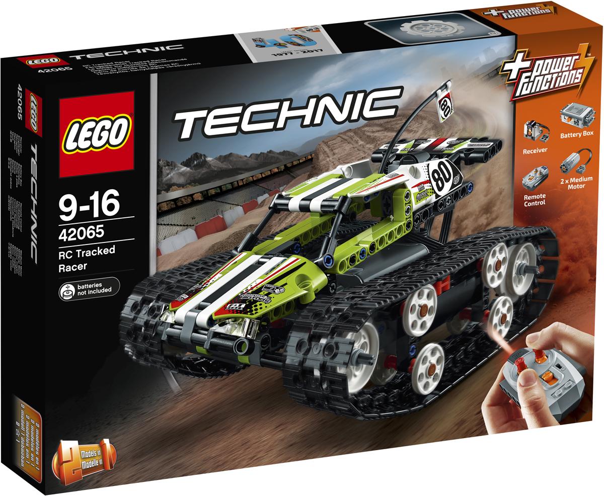LEGO Technic Конструктор Скоростной вездеход с ДУ 4206542065Приготовься мчаться на огромной скорости на мощном скоростном вездеходе на дистанционным управлением LEGO Technic лаймового, белого и чёрного цветов с классными наклейками и огромными прочными гусеницами для исключительной манёвренности! Возьми пульт и проведи свой супернадёжный автомобиль через все препятствия и набери сумасшедшую скорость. Перестрой эту модель и создай ещё один автомобиль на дистанционном управлении — замечательный тягач-вездеход!