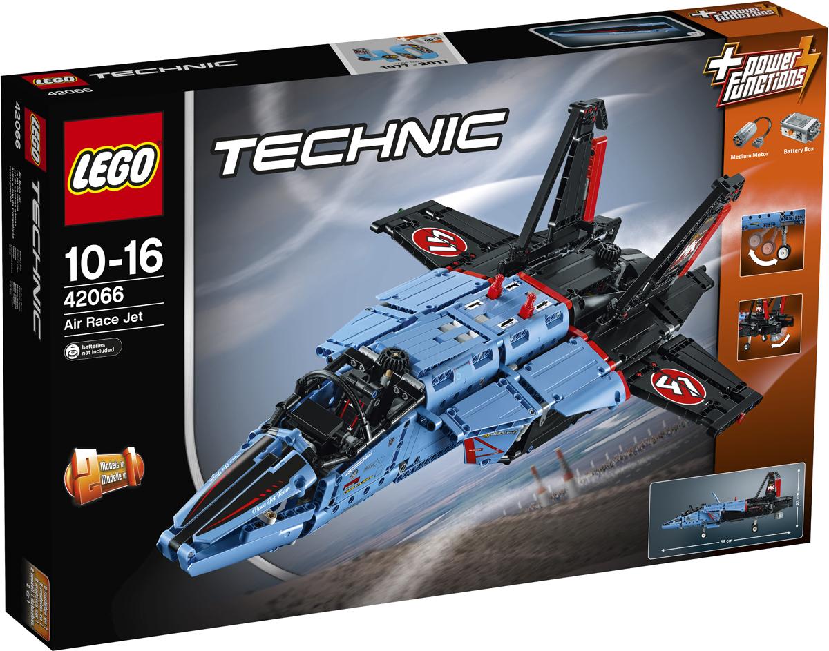 LEGO Technic Конструктор Сверхзвуковой истребитель 4206642066Получи истинное удовольствие от сборки этого суперкрутого аэродинамического истребителя LEGO Technic, голубого, чёрного и красного цветов с классными гоночными наклейками и множеством реалистичных деталей и удивительными механическими функциями. Заведи входящий в набор мотор, чтобы поставить сопло реактивного двигателя в вертикальное или горизонтальное положение, открыть фюзеляж, выпустить и поднять шасси, открыть люк и увидеть вращающийся турбореактивный двигатель и отрегулировать положение закрылок! Эта удивительная модель также оснащена многофункциональным рулевым управлением, подвижными хвостовыми рулями и открывающейся кабиной. Когда захочешь решить новую задачу, собери частный реактивный самолёт!