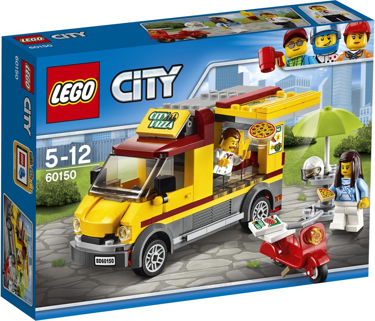 LEGO City Конструктор Фургон-пиццерия 6015060150Откройте фургон-пиццерию и приготовьтесь принимать заказы! Берите тесто и начинайте делать пиццу. Отрежьте кусочек и подайте его проголодавшемуся посетителю, а потом упакуйте пару свежих пицц и на скутере доставьте их клиентам. А вот и пицца, обед на столе! Набор включает в себя 249 разноцветных пластиковых элементов. Конструктор - это один из самых увлекательных и веселых способов времяпрепровождения. Ребенок сможет часами играть с конструктором, придумывая различные ситуации и истории.