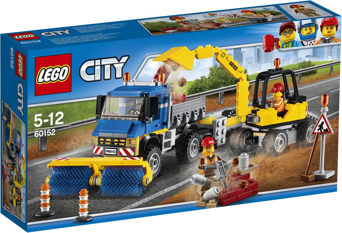 LEGO City Конструктор Уборочная техника 6015260152Вызовите уборочную машину и экскаватор. На улице кто-то рассыпал кирпичи! Погрузите экскаватор на прицеп и доставьте его на место с помощью грузовика. Соберите кирпичи и погрузите в кузов грузовика. Щетками грузовика сметите мелкие куски, если это не поможет - беритесь за метлу и лопату. После сложного рабочего дня пора возвращаться на базу! Набор включает в себя 299 разноцветных пластиковых элементов. Конструктор - это один из самых увлекательных и веселых способов времяпрепровождения. Ребенок сможет часами играть с конструктором, придумывая различные ситуации и истории.