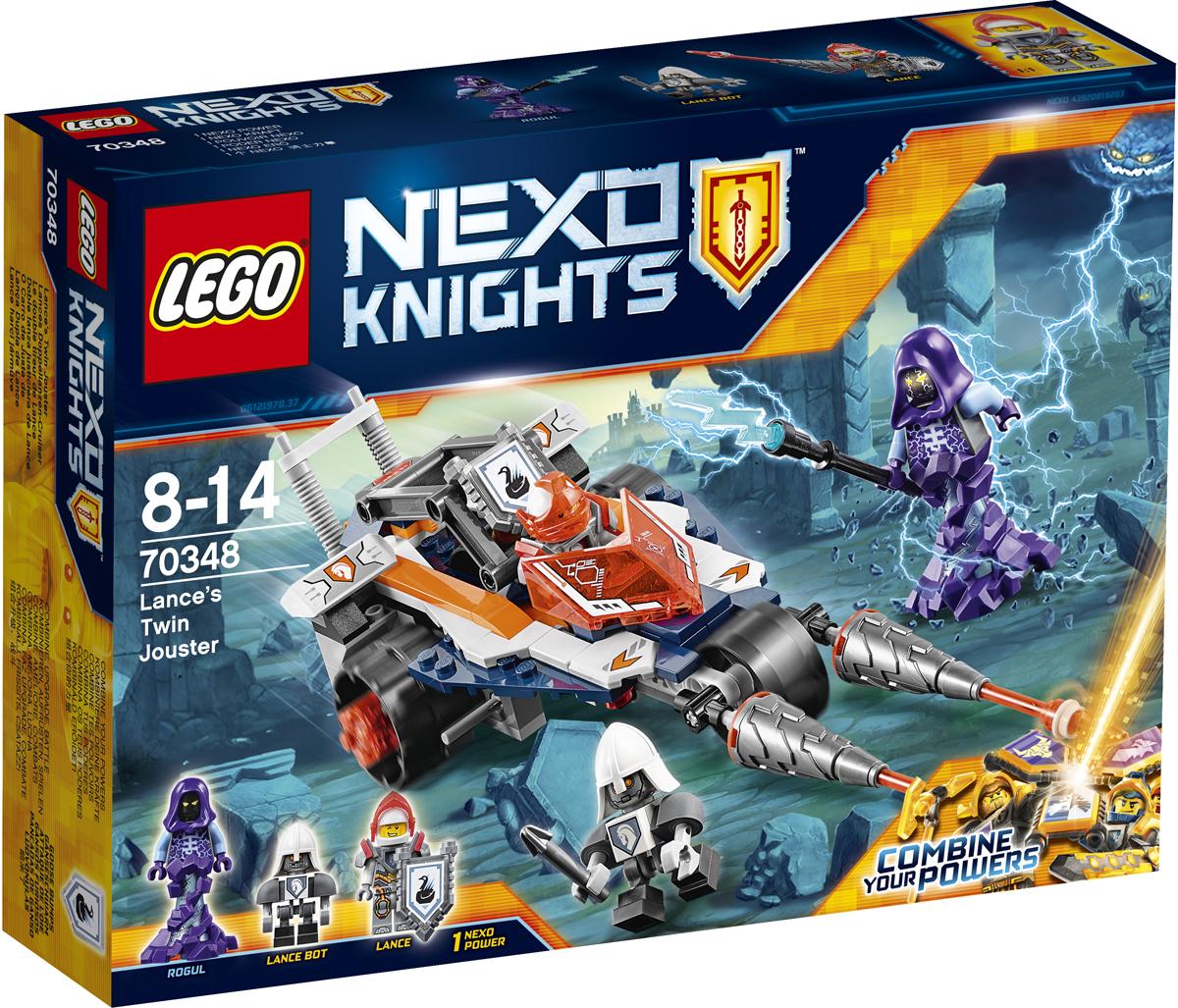 LEGO NEXO KNIGHTS Конструктор Турнирная машина Ланса 7034870348Догоните Рогула на супербыстрой турнирной машине Ланса! Расправьте крылья, летите за убегающим чудовищем и стреляйте манёвренными ракетами. Отсоедините крылья, чтобы освободить бота Ланса с реактивным ранцем, а потом приземляйтесь, чтобы сделать погоню, которую устроили рыцари LEGO NEXO KNIGHTS™, ещё более захватывающей. Набор включает в себя 216 разноцветных элементов, 3 минифигурки и щит для сканирования. Конструктор - это один из самых увлекательных и веселых способов времяпрепровождения. Ребенок сможет часами играть с конструктором, придумывая различные ситуации и истории.