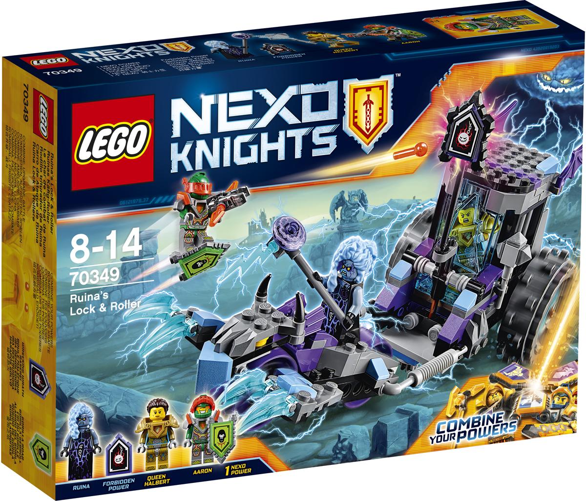 LEGO NEXO KNIGHTS Конструктор Мобильная тюрьма Руины 7034970349Отправляйте героического рыцаря Аарона в самую гущу боя на его летающем щите. Стреляйте из шипомета его Сверкающего арбалета по щиту запретных сил Передвижной тюрьмы Руины, чтобы освободить дверь клетки и спасти королеву Хальберт. Но берегитесь когтей Каргобайка! В набор входят два щита для сканирования: NEXO-Cила Рев гориллы и запретная сила Сокрушительный гнев. Набор включает в себя 208 разноцветных пластиковых элементов. Конструктор - это один из самых увлекательных и веселых способов времяпрепровождения. Ребенок сможет часами играть с конструктором, придумывая различные ситуации и истории.