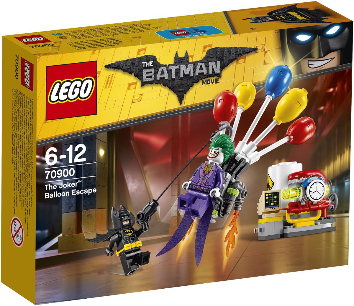 LEGO Batman Movie Конструктор Побег Джокера на воздушном шаре 7090070900Джокер заложил бомбу на электростанции Готем-сити. Объедини силы с Бэтменом и схвати злоумышленника, прежде чем он взорвет электростанцию. Выбери самый безопасный способ избавиться от бомбы, но смотри в оба: Джокер собирается бежать при помощи своего рюкзака с воздушными шарами. Направь на него свою гарпунную пушку и не позволь этому ухмыляющемуся суперзлодею улизнуть.