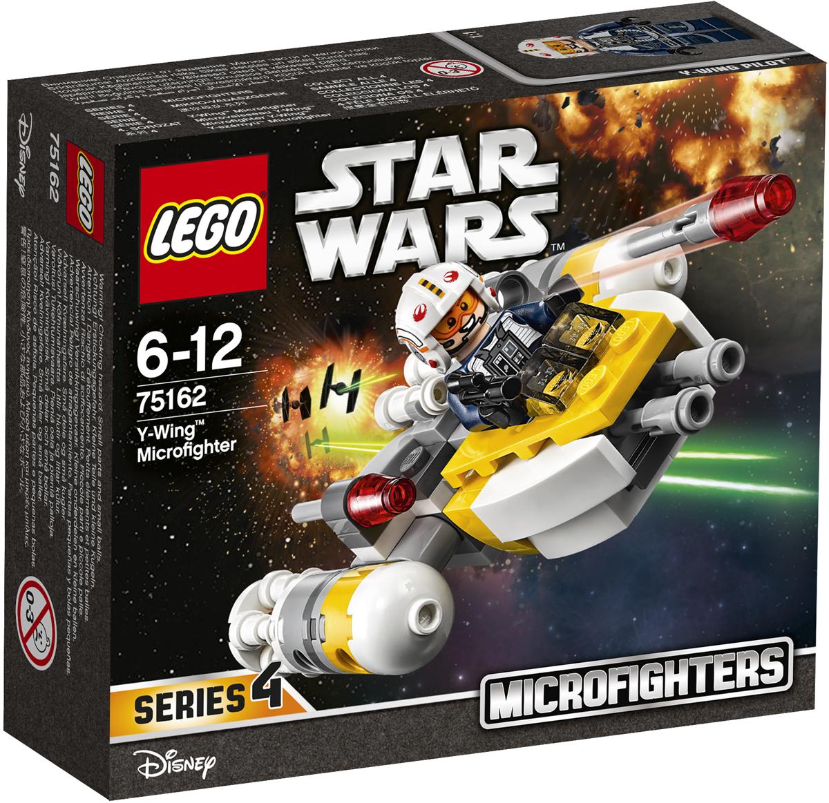 LEGO Star Wars Конструктор Микроистребитель типа Y 7516275162Сражайся с силами Империи на удивительном микроистребителе типа Y. Посадите пилота в кабину микроистребителя, снарядите пусковые установки маневренными ракетами и приготовьтесь вступить в бой. Набор включает в себя 90 разноцветных элементов и минифигурку. Конструктор - это один из самых увлекательных и веселых способов времяпрепровождения. Ребенок сможет часами играть с конструктором, придумывая различные ситуации и истории.