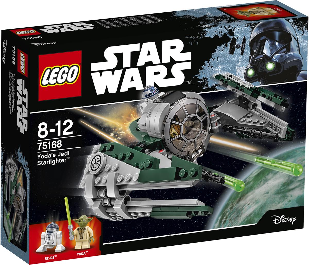 LEGO Star Wars Конструктор Звездный истребитель Йоды 7516875168Звёздный истребитель магистра ордена джедаев Йоды предназначен для путешествий на отдалённые планеты. Посадите Йоду в кабину звездолёта и поместите на борт R2-D2. Сложите крылья, зарядите оружие и будьте готов отправиться в полёт. Набор включает в себя 262 разноцветных пластиковых элементов и две минифигурки. Конструктор - это один из самых увлекательных и веселых способов времяпрепровождения. Ребенок сможет часами играть с конструктором, придумывая различные ситуации и истории.