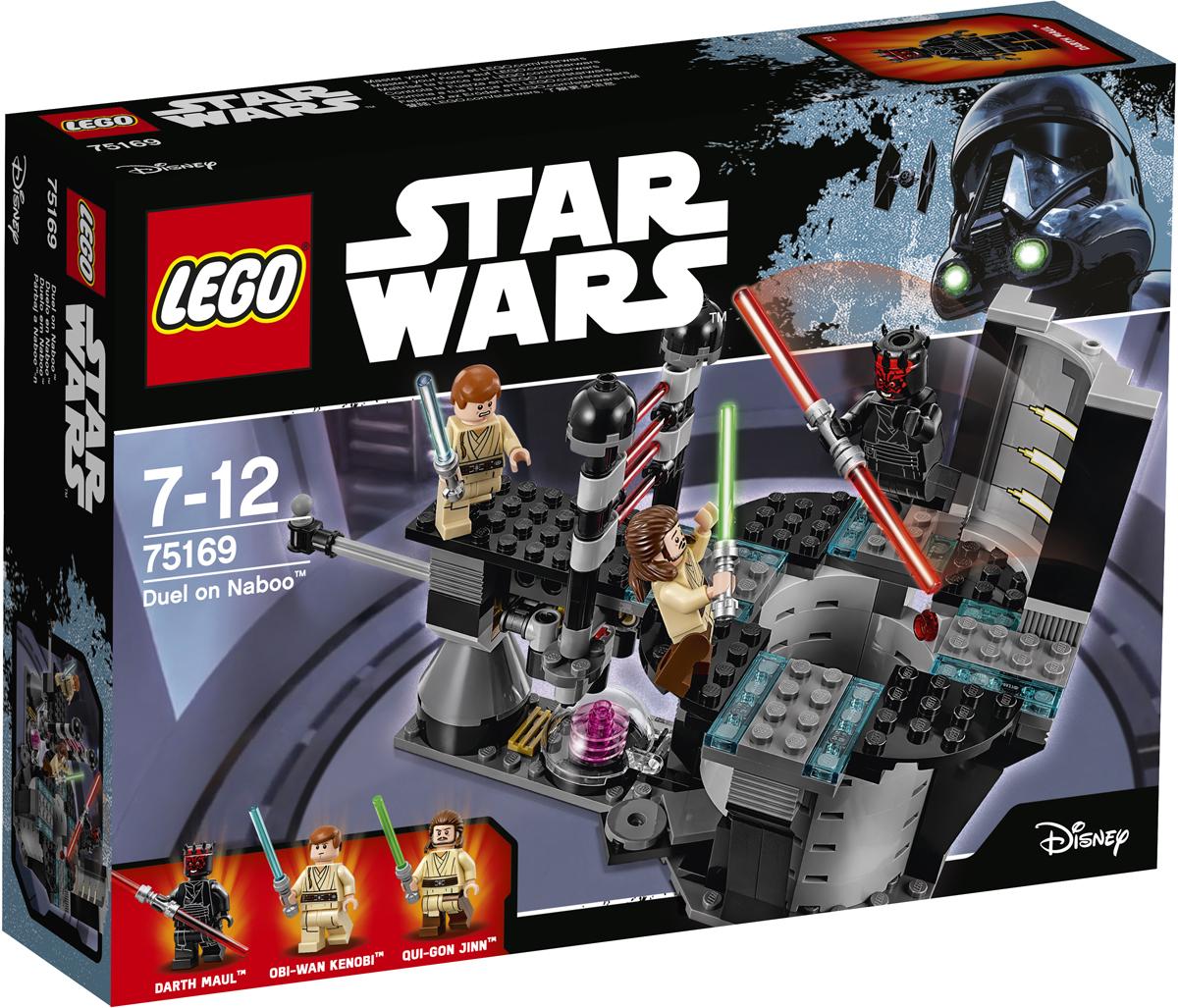 LEGO Star Wars Конструктор Дуэль на Набу 7516975169Магистр Квай-Гон Джин настиг Дарта Мола в реакторной комнате дворца на Набу и нуждается в вашей помощи, чтобы победить ситха раз и навсегда. Устройте дуэль на световых мечах. Если упадете, активируйте катапульту, чтобы отпрыгнуть. Если Мол окажется слишком силён, дёргайте за рычаг, который поднимает лазерный щит, чтобы Оби-Ван Кеноби тоже мог вступить в бой. Кто победит в этой невероятной дуэли? Зависит от вас... Набор включает в себя 208 разноцветных элементов и три минифигурки. Конструктор - это один из самых увлекательных и веселых способов времяпрепровождения. Ребенок сможет часами играть с конструктором, придумывая различные ситуации и истории.