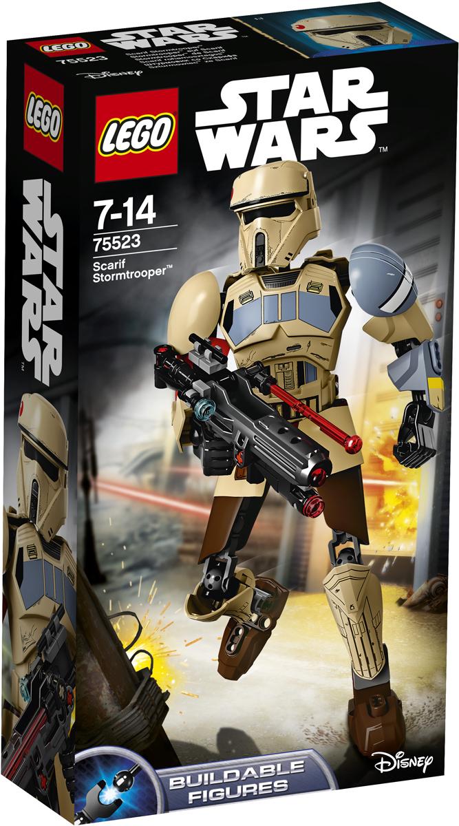 LEGO Star Wars Конструктор Штурмовик со Скарифа 7552375523Штурмовик элитного отряда готов броситься в бой против Повстанцев. Постройте сборную фигуру, придумайте для неё боевую позу, зарядите винтовку и стреляйте. Берегитесь, Повстанцы! Набор включает в себя 89 разноцветных элементов. Конструктор - это один из самых увлекательных и веселых способов времяпрепровождения. Ребенок сможет часами играть с конструктором, придумывая различные ситуации и истории.