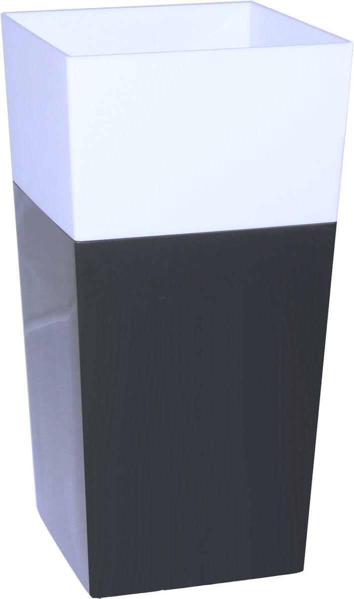 Кашпо Idea Дуал, цвет: графитовый, 14 х 14 смМ 3099