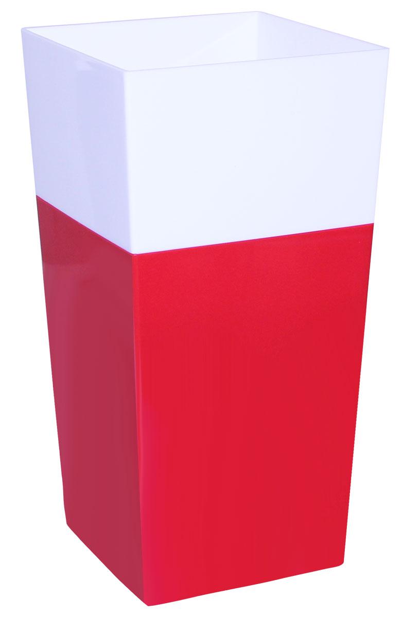 Кашпо Idea Дуал, цвет: красный, 14 х 14 х 26 смМ 3099Кашпо Idea Дуал изготовлено из прочного полипропилена (пластика) и предназначено для выращивания растений, цветов и трав в домашних условиях. Такое кашпо порадует вас функциональностью, а благодаря лаконичному дизайну впишется в любой интерьер помещения. Размер кашпо: 14 х 14 х 26 см.