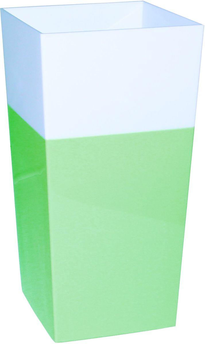 Кашпо Idea Дуал, цвет: фисташковый, 14 х 14 х 26 смМ 3099Кашпо Idea Дуал изготовлено из прочного полипропилена (пластика) и предназначено для выращивания растений, цветов и трав в домашних условиях. Такое кашпо порадует вас функциональностью, а благодаря лаконичному дизайну впишется в любой интерьер помещения. Размер кашпо: 14 х 14 х 26 см.
