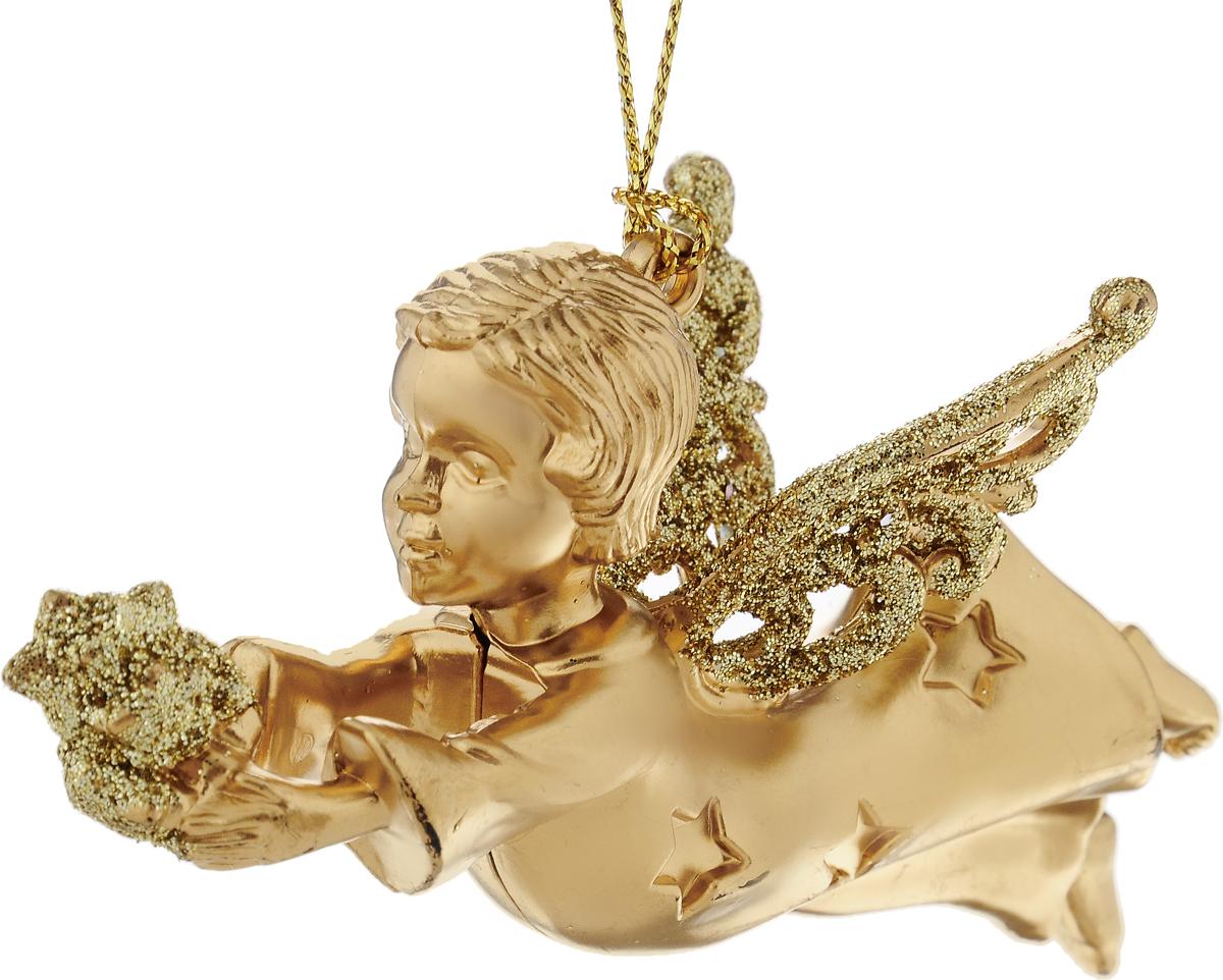 Новогоднее подвесное украшение Erich Krause Ангелок со звездами, высота 10 см4041485338536Украшений Erich Krause Ангелок звездный прекрасно подойдет для праздничного декора новогодней ели. Изделие выполнено из пластика. Для удобного размещения на елке предусмотрено текстильная петелька. Елочная игрушка - символ Нового года. Она несет в себе волшебство и красоту праздника. Создайте в своем доме атмосферу веселья и радости, украшая новогоднюю елку нарядными игрушками, которые будут из года в год накапливать теплоту воспоминаний. Откройте для себя удивительный мир сказок и грез. Почувствуйте волшебные минуты ожидания праздника, создайте новогоднее настроение вашим дорогим и близким. Высота: 10 см.