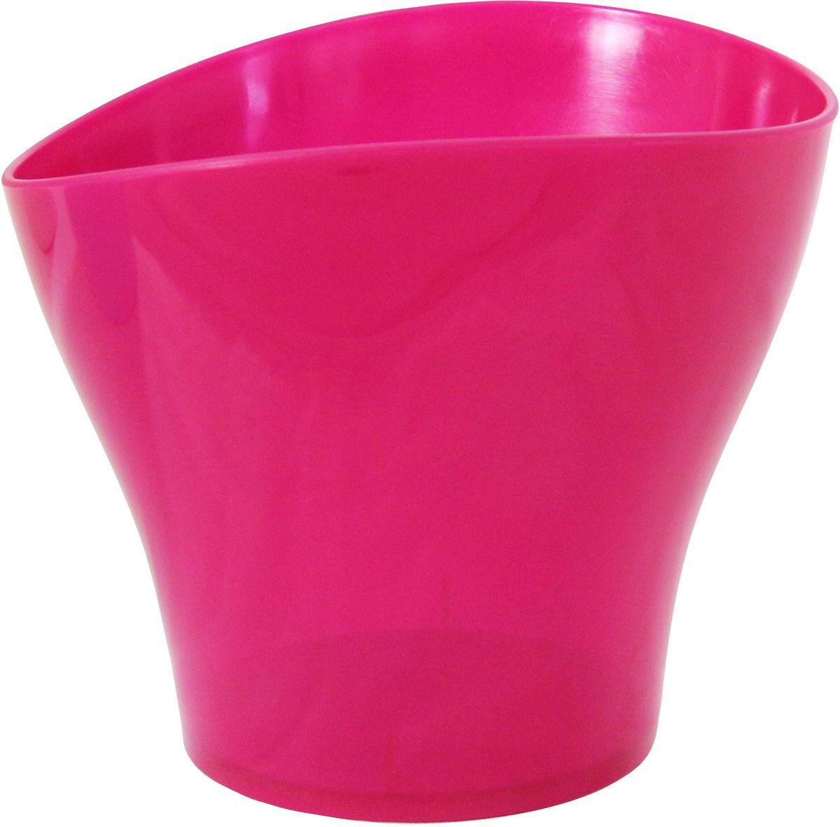 Кашпо Idea Волна, цвет: малиновый, прозрачный, 1,6 лМ 3103