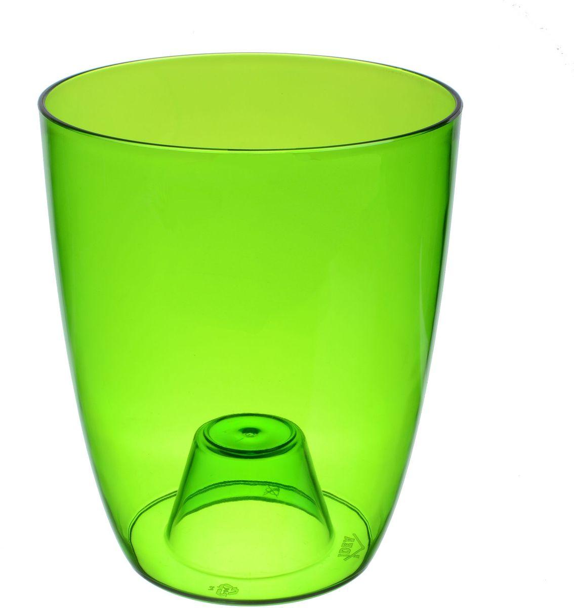 Кашпо Idea Орхидея, цвет: зеленый, прозрачный, диаметр 16 смМ 3149Кашпо Idea Орхидея изготовлено из прочного прозрачного полистирола (пластика). Изделие предназначено для выращивания растений и цветов в домашних условиях. Такое кашпо порадует вас современным дизайном и функциональностью, а также оригинально украсит интерьер помещения. Диаметр по верхнему краю: 16 см. Высота кашпо: 15 см.