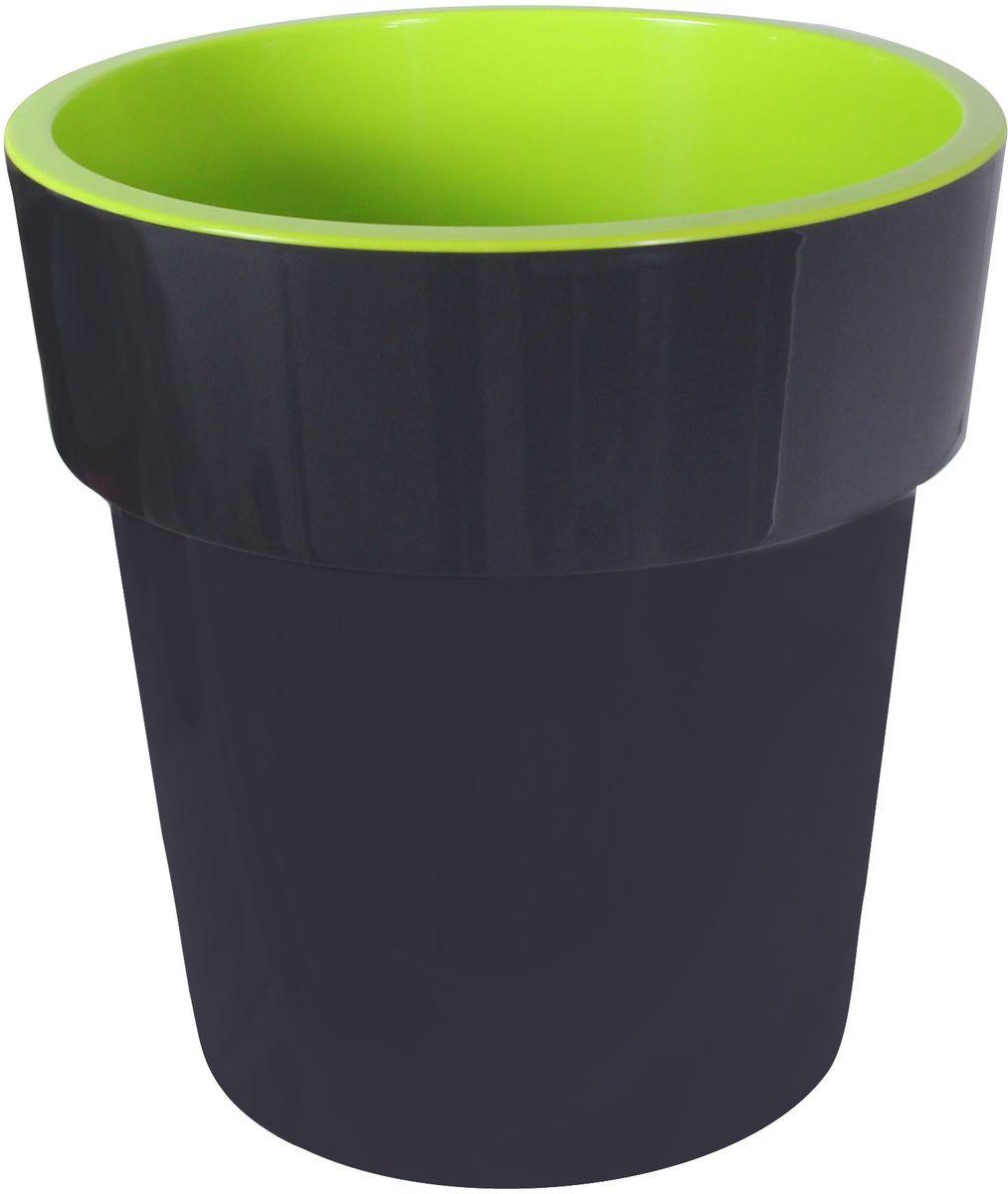 Кашпо Idea Тубус, цвет: графитовый, диаметр 15 смМ 3164