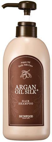 Skinfood Argan Oil Silk Шампунь с аргановым маслом, 500 млУТ-00000275Восстанавливающий шампунь деликатно очищает кожу головы и волосы от загрязнений и кожного жира, делая их не только чистыми, но и блестящими, здоровыми и сильными. Шампунь раскрывает природный потенциал волос, обеспечивает сияние и здоровый ухоженный вид, они становятся менее пушистыми, более послушными, блестящими и шелковистыми. Содержит: экстракт и масло арганы, гидрализованный кератин и шелк, экстракт зеленого чая, керамиды и пантенол.