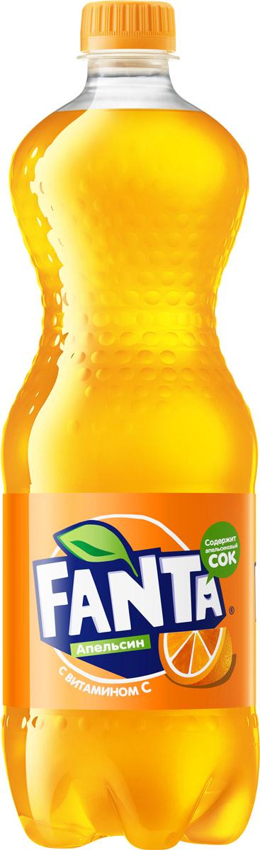 Fanta Апельсин напиток сильногазированный, 1 л269627Fanta Апельсин с витамином С - газировка с легендарным апельсиновым вкусом. Больше веселья и фана с друзьями! Играем!