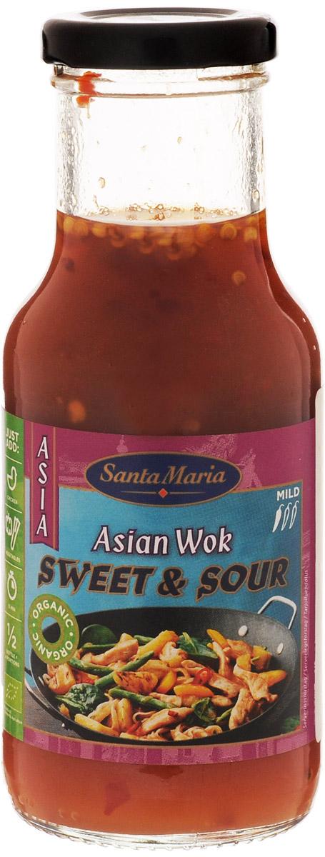 Santa Maria Кисло-сладкий соус, 250 мл3437Кисло-сладкий соус Santa Maria подходит для приготовления тайских блюд из курицы, морепродуктов, рыбы и овощей. Уважаемые клиенты! Обращаем ваше внимание, что полный перечень состава продукта представлен на дополнительном изображении.