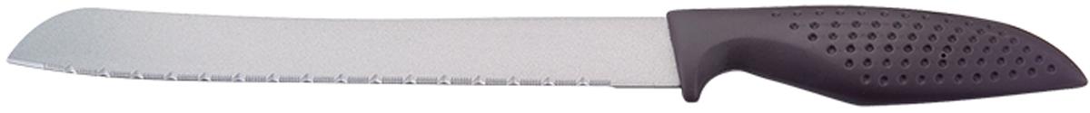 Нож универсальный Marta Utility, с титановым покрытием, длина лезвия 20 смMT-2863Универсальный нож Marta Utility с лезвием из высококачественной пищевой нержавеющей стали 1 мм и титановым покрытием. Изделие из нержавеющей стали имеет самый длительный срок службы, отлично сохраняет эксплуатационные свойства и внешний вид. Высококачественная пищевая нержавеющая сталь не имеет запаха и сохраняет вкус и аромат продуктов натуральными, а гигиеничное, нетоксичное, гипоаллергенное титановое покрытие устойчиво к коррозии и обеспечивает длительное сохранение качества режущей кромки ножа без необходимости его дополнительной заточки. Нож имеет зубчатое острозаточенное лезвие, а также стильное исполнение пластиковой ручки удобной формы с тиснением для более плотного контакта с ладонью. Качественный универсальный нож Marta Utility – это подлинное украшение кухни и уверенность в успехе любого блюда. Можно мыть в посудомоечной машине. Общая длина ножа: 30,2 см.