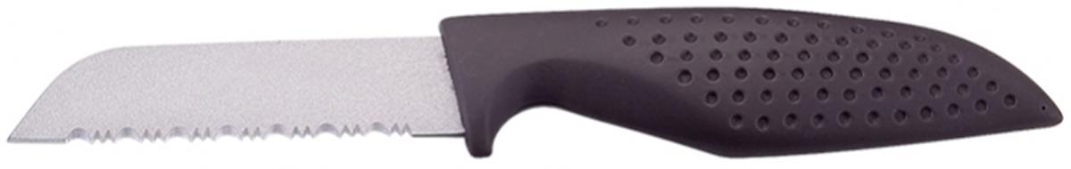 Нож для чистки овощей Marta Paring, длина лезвия 8,5 см. MT-2865MT-2865Универсальный нож Marta Paring с лезвием из нержавеющей стали 1,5 мм и керамическим покрытием станет незаменимым помощником на вашей кухне. Такой нож имеет самый длительный срок службы, отлично сохраняет эксплуатационные свойства и внешний вид. Высококачественная пищевая нержавеющая сталь не имеет запаха и сохраняет вкус и аромат продуктов натуральными, а экологически чистое антибактериальное гипоаллергенное керамическое покрытие устойчиво к коррозии, износу и обеспечивает длительное сохранение качества режущей кромки ножа без необходимости его дополнительной заточки. Универсальный нож имеет гладкое острозаточенное лезвие, а также стильное исполнение пластиковой ручки удобной формы, обеспечивающей плотный контакт с ладонью, со специальным покрытием, предотвращающим скольжение в руке. Качественный нож Marta Paring - это подлинное украшение кухни и уверенность в успехе любого блюда. Можно мыть в посудомоечной машине. Общая длина...