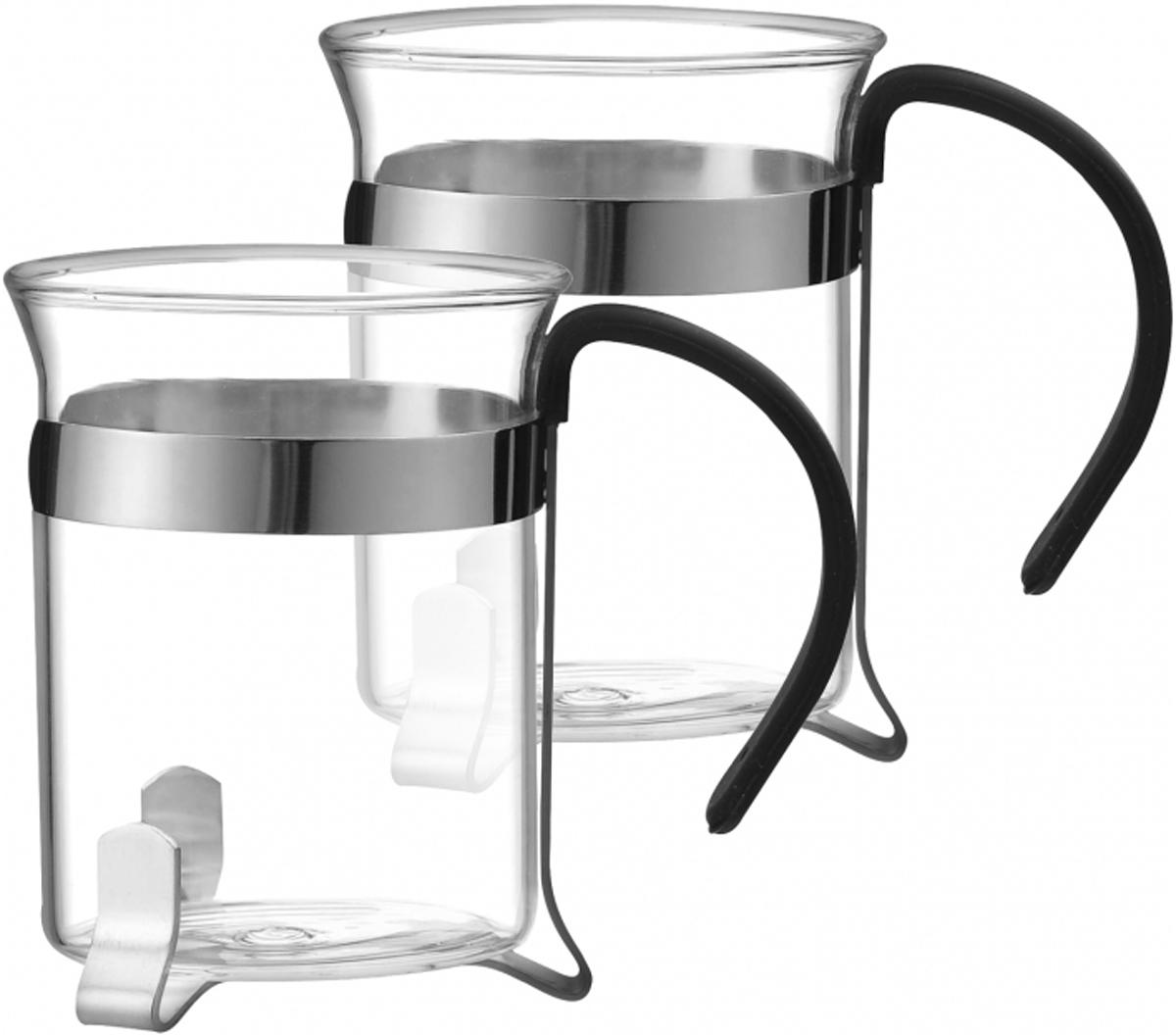 Набор чашек Marta, 200 мл, 2 шт. MT-3726MT-3726Набор Marta состоит из двух чашек из жаропрочного стекла в оправе из нержавеющей стал и оснащены эргономичными ручками. Чашки имеют устойчивое дно, что гарантирует безопасность и удобство при чаепитии. Изделия легко моются и остаются чистыми продолжительное время. Набор чашек Marta - отличный подарок для любителей горячих напитков и ценителей посуды из качественных экологически чистых материалов. Он сочетает в себе элегантность и практичность, послужит источником отличного настроения для двоих. Подходят для мытья в посудомоечной машине.