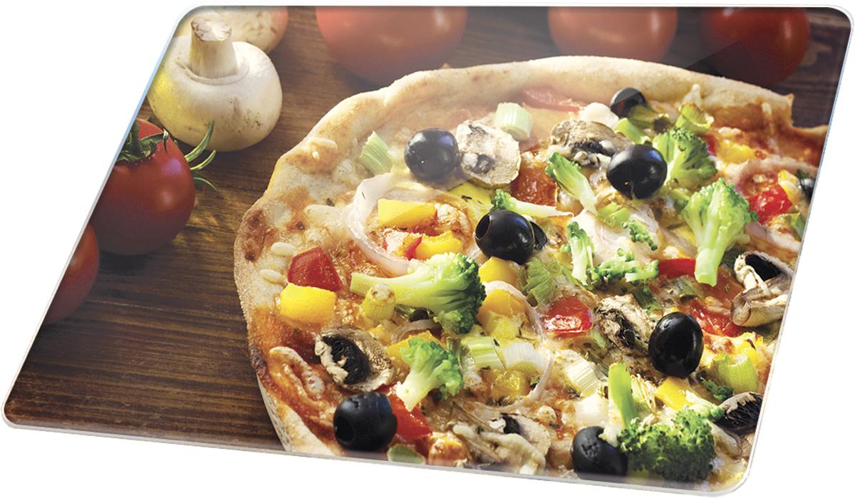 Доска разделочная Marta Пицца, 30 х 20 смMT-3736 BМногофункциональная разделочная доска Marta Пицца выполнена из закаленного жаропрочного стекла с рифленой поверхностью. Прекрасно подходит для разделки мяса, рыбы, приготовления теста и нарезки любых продуктов. Разделочную доску можно использовать как подставку под горячее блюдо. Закаленное жаропрочное стекло устойчиво к механическим повреждениям, порезам, ударам, царапинам, а также к температурным перепадам и бытовой химии, отлично чистится, в том числе в посудомоечной машине, не впитывает посторонние запахи, не выделяет примесей, сохраняя вкус и аромат продуктов натуральными. Многофункциональность и превосходный дизайн с высококачественным фотопринтом изображения делают доску не только незаменимым кухонным аксессуаром, но и подлинным украшением кухонного интерьера в любом стиле.