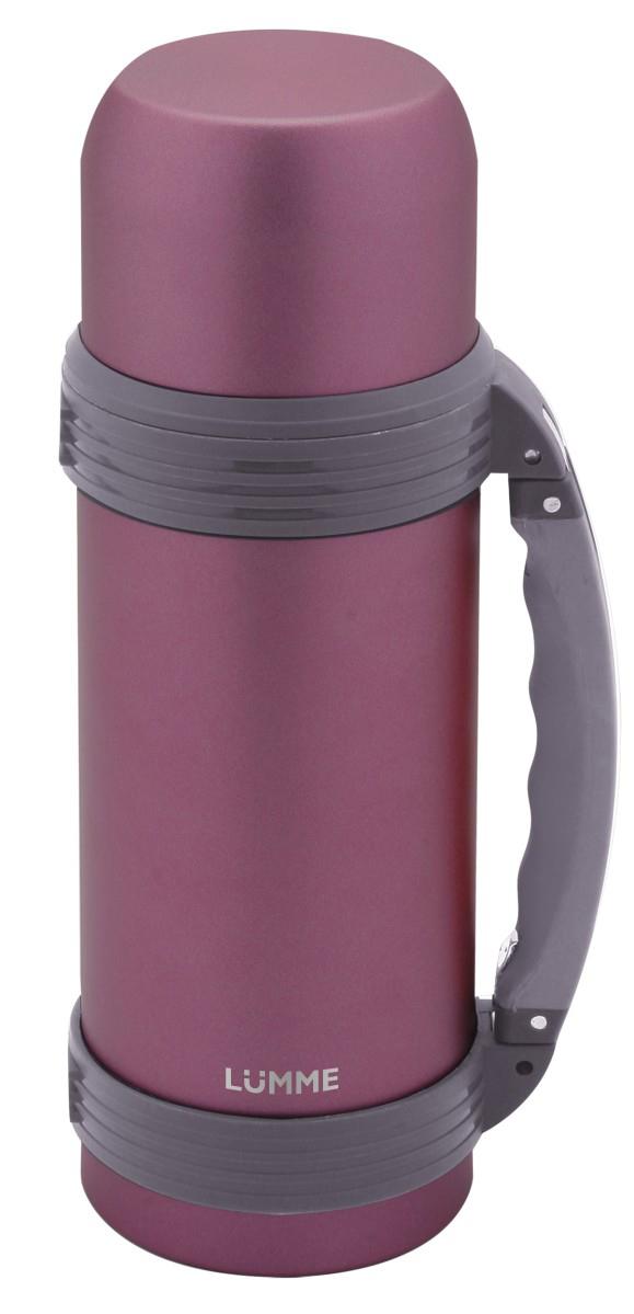 Термос Lumme, цвет: лиловый, 1 л. LU-ST1004LU-ST1004 лиловыйСталь, объем 1,0 л, чаша-крышка, двойные стенки, вакуумная изоляция, размер 9,2x9,2x30 см