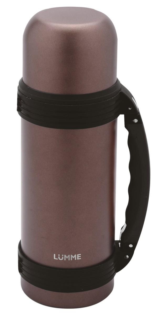 Термос Lumme, цвет: бронзовый, 1 л. LU-ST1004LU-ST1004 бронзаСталь, объем 1,0 л, чаша-крышка, двойные стенки, вакуумная изоляция, размер 9,2x9,2x30 см
