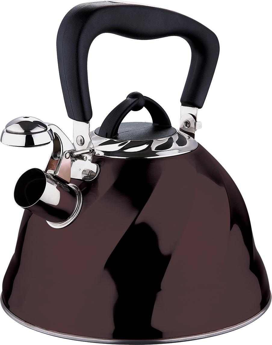 Чайник со свистком Marta, цвет: шоколад, 3 л. MT-3043MT-3043 шоколадКорпус - Сталь 304, толщина стенок 0,4 мм, со свистком, емкость 3,0л, капсульное дно, складная ненагреваемая ручка с силиконовым покрытием, герметичная крышка