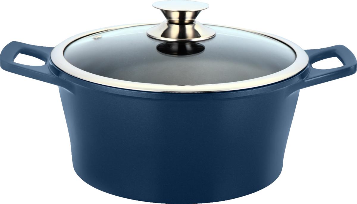 Кастрюля Marta Pro Line с крышкой, с керамическим покрытием, цвет: темно-синий, 6,2 лMT-2936 синийКастрюля Marta Pro Line выполнена из литого алюминия с высокой теплопроводностью и термостойкостью. Изделие оснащено внутренним двухслойным экологически чистым керамическим покрытием. Кастрюля обладает антибактериальными свойствами и не вступает в химические реакции с продуктами, что позволяет им сохранить свой оригинальный вкус и полезные свойства. Посуда нетоксична и устойчива к коррозии. Энергосберегающее дно сокращает время приготовления и экономит электроэнергию. Кастрюля оснащена стеклянной крышкой с паровыпуском и удобными ручками. Подходит для электрических, газовых, стеклокерамических и галогенных плит. Можно мыть в посудомоечной машине.