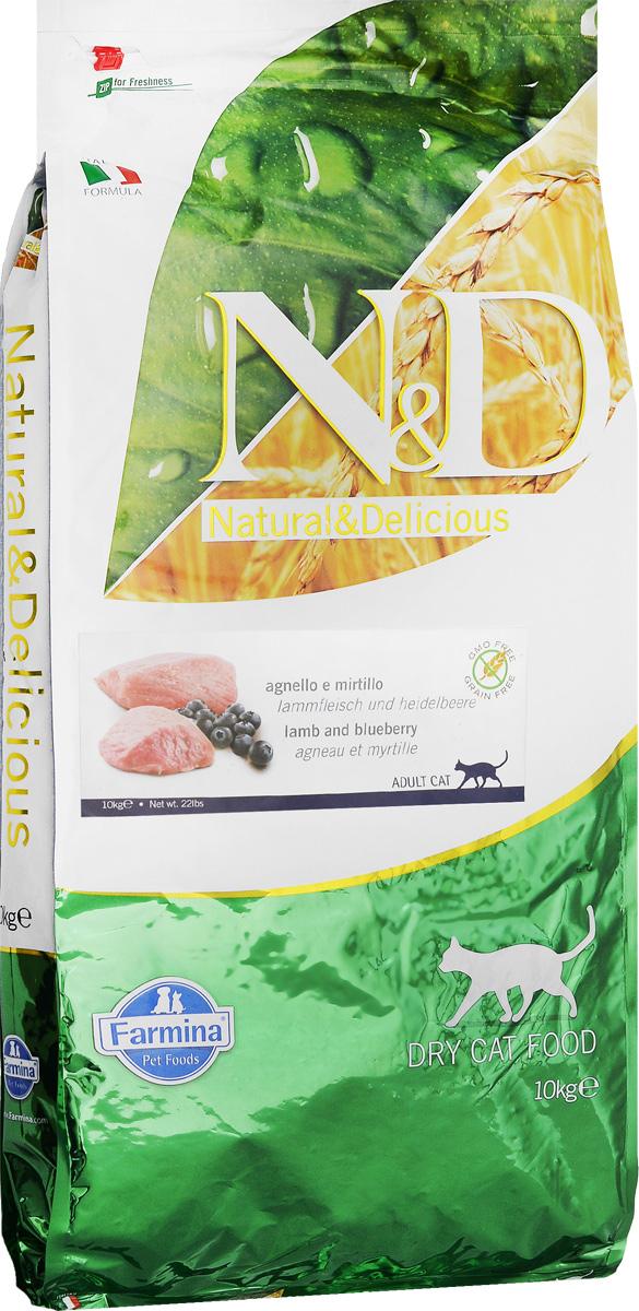 Корм сухой Farmina N&D, для взрослых кошек, беззерновой, с ягненком и черникой, 10 кг24961Сухой корм Farmina N&D является беззерновым полноценным питанием для взрослых кошек. Изделие имеет высокое содержание витаминов и питательных веществ. Сухой корм содержит натуральные компоненты, которые необходимы для полноценного и здорового питания домашних животных. Рецептура корма построена по принципу питания плотоядных. Товар сертифицирован.