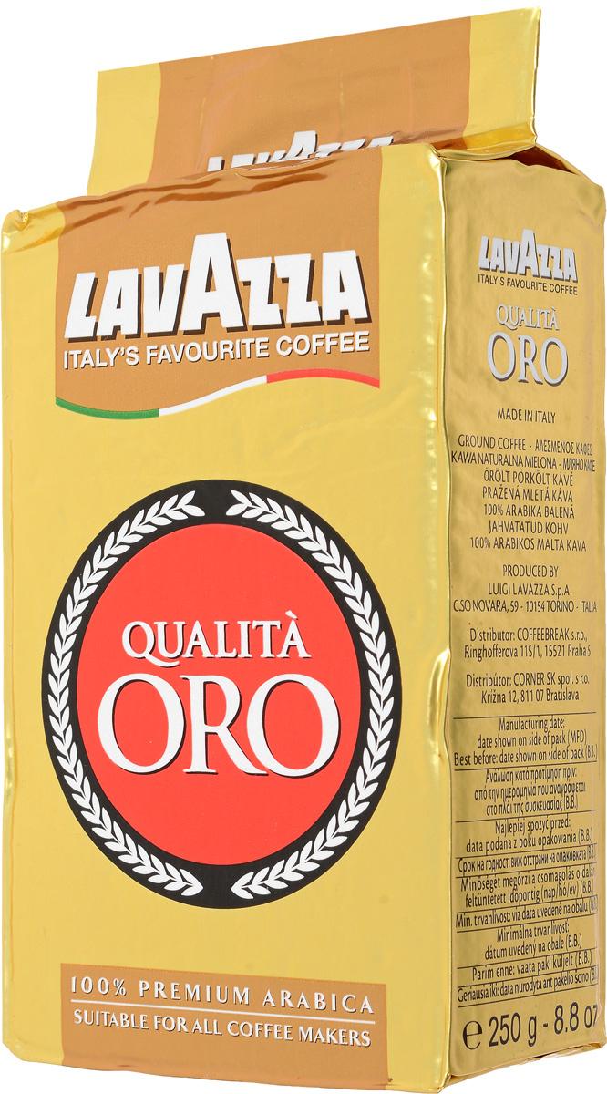 Lavazza Qualita Oro кофе молотый, 250 г (в/у)1991Ароматный напиток Lavazza Qualita Oro, созданный для требовательного кофемана с утонченным вкусом. Тщательно подобранный купаж создан из 100 % высокогорной арабики, выращенной на лучших плантациях Центральной Америки. Средняя обжарка и высокое качество сырья позволяют получить ярко выраженный красочный вкус и запоминающийся аромат, наполненный выразительной цветочной нотой с небольшой горчинкой.
